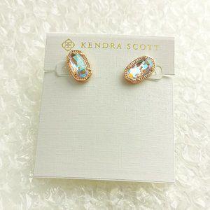 KENDRA SCOTT Ellie Dichroic  Rose Gold Earrings